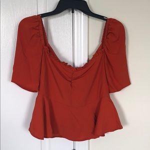 Romantic , puff sleeve blouse
